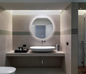 hib illuminated bathroom mirror