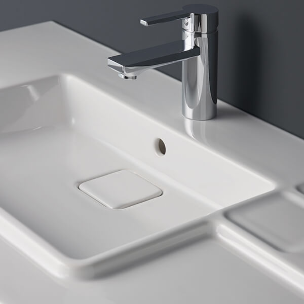 Sottini Ciane single lever basin mixer with pop up waste