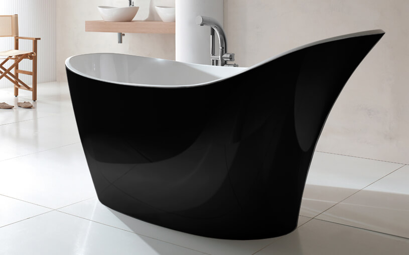 Victoria and albert Amalfi freestanding bath black