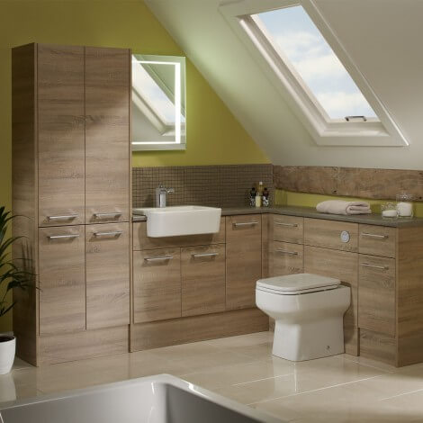 roper rhodes aruba washed oak bathroom furniture