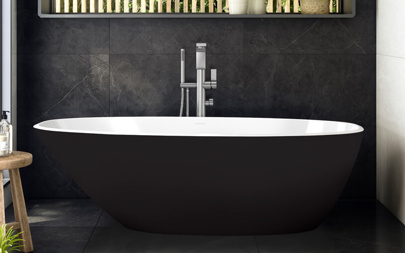 victoria and albert mozzano freestanding bath black